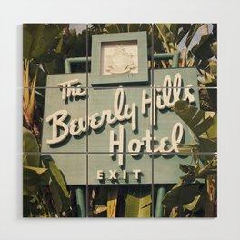 Beverly Hills Hotel Wood Wall Art