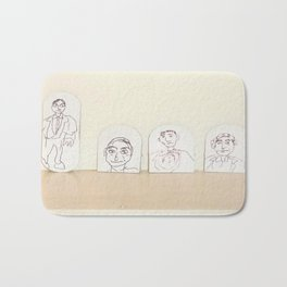 small cardboard tab drawings Bath Mat