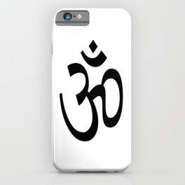 Om Black & White iPhone Case