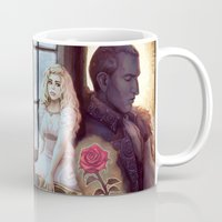 beauty and the beast Mugs featuring Beauty & the Beast by the-untempered-prism