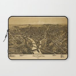 Aerial View of New Castle, Pennsylvania (1896) Laptop Sleeve