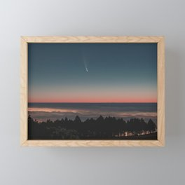 Fantasy above the clouds Framed Mini Art Print