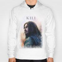 kili Hoodies featuring Kili (The Hobbit) by Grazia Vincoletto