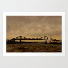 Pont JacquesCartier Art Print