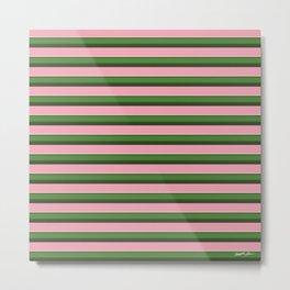 Pink Roses in Anzures 3 Stripes 2H Metal Print