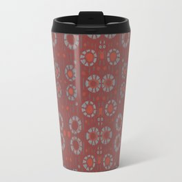 Find the rabbit, gray and terracotta abstract pattern Travel Mug
