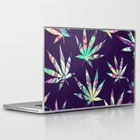 cannabis Laptop & iPad Skins featuring Merry Cannabis by GypsYonic