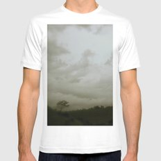 Dawn in the countryside MEDIUM White Mens Fitted Tee