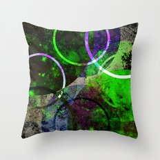 Other Dimensions - Abstract, geometric, textured, space themed artwork Throw Pillow