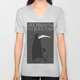 say no to black friday Unisex V-Neck