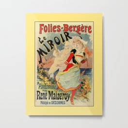 French belle epoque mime theatre advertising Metal Print