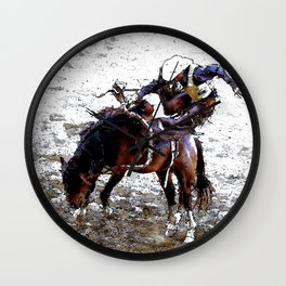 The Dismount   -   Rodeo Cowboy Wall Clock
