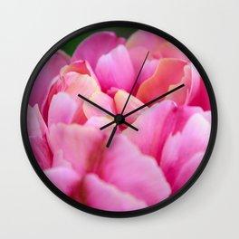 Hues of Pink Wall Clock
