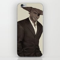 dragon age inquisition iPhone & iPod Skins featuring The Iron Bull - Dragon Age Inquisition by maltairs