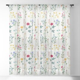 Spring Botanicals Sheer Curtain