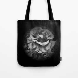 Black Rose - Painting Style - Black and White - Art Gift Tote Bag