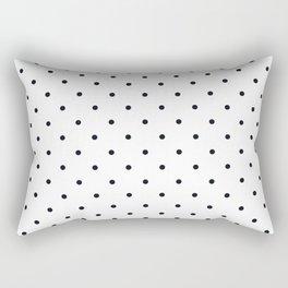 Little Dots Black on White Rectangular Pillow