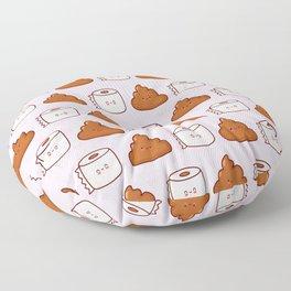 Cute poop and toilet paper Floor Pillow
