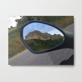 la montagna in uno specchio Metal Print