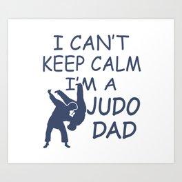 I'M A JUDO DAD Art Print