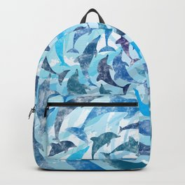 Water color dolphins Backpack