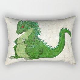 Fat Dragon Rectangular Pillow