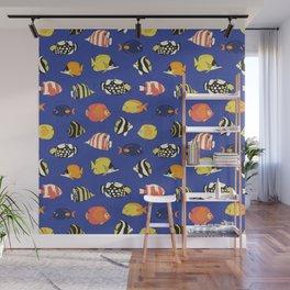 Exotic School Of Reef Fish Wall Mural