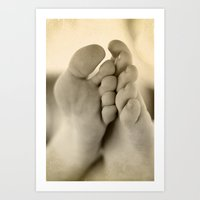feet Art Prints featuring Feet by Angela K. Rough