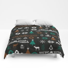 Christmas Eve pattern Comforters