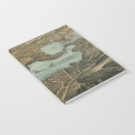 Vintage Pictorial Map of Lake Chautauqua NY (1885) Notebook