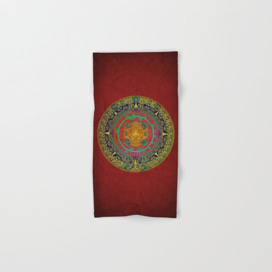 Aztec Sun God Hand & Bath Towel