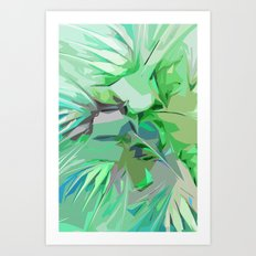 Palm Trees Abstract Art Print