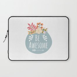 Be Awesome, Nursery Wall Art, Printable Wall Art, Typography Quote Laptop Sleeve