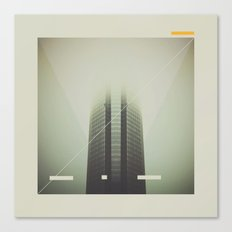 Devon Tower Divided By Fog Canvas Print