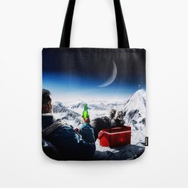 Funny Alpinist with beer Tote Bag