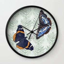 A Butterfly summer Wall Clock