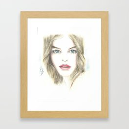 a beautiful woman Framed Art Print