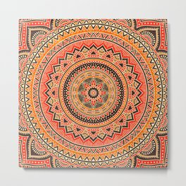 Hippie Mandala 12 Metal Print