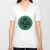 celtic V-neck T-shirts featuring Celtic Nature by Astrablink7