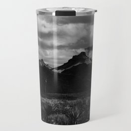 Dramatic Clouds over Mountain Range in Big Bend Travel Mug