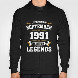 September 1991 27 the birth of Legends Hoody