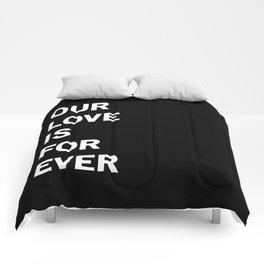 Forever Love Dark Comforters