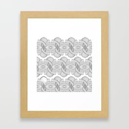 Pacific Lines Framed Art Print