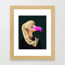 Portrait of a Flamingo Framed Art Print