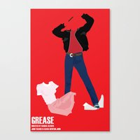 grease Canvas Prints featuring Grease by Jake Newton