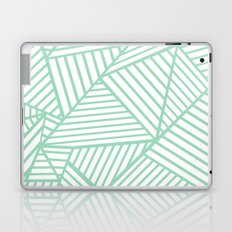Abstract Lines Close Up Mint Laptop & iPad Skin