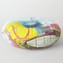 The asphalt cutter Floor Pillow
