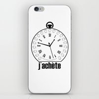 watch iPhone & iPod Skins featuring Watch by antonio&marko