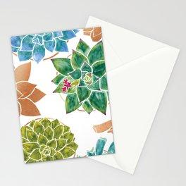 Watercolour Succulents and Copper, Watercolor Succulents and Copper Stationery Cards