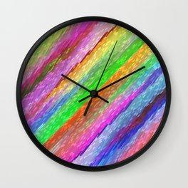 Colorful digital art splashing G479 Wall Clock
